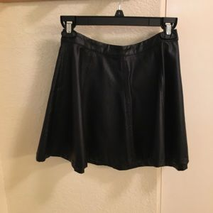 Pull and Bear faux leather skirt